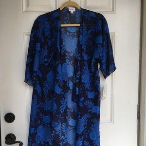 Kimono Lularoe Blue floral Shirley